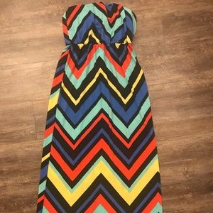 Strapless Chevron Dress